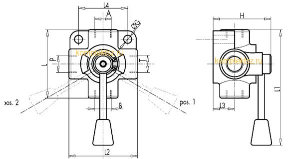 Делители потока диверторы, кран шаровый DF3, DDF3