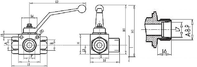чертеж кран высокого давления трехходовой